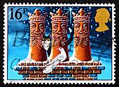Postage stamp GB 1983 Three Kings chimney pots