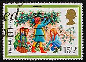 Postage stamp GB 1982 Three girls, the holly and the ivy