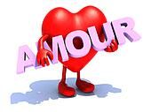 heart that embraces word amour