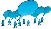 talking people