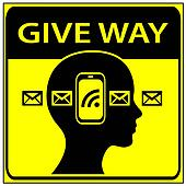 Give Way to Pedestrian with Smart Phone