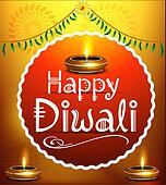 happy diwali festival background with deepak