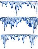 melting blue icicles
