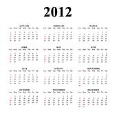 2012 Clear Great Calendar