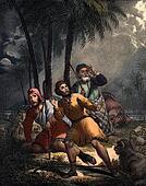 Jesus Birth announced to shepherds