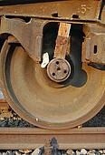 Freight wagon wedged wheel