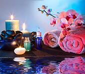 preparation for massage and aroma