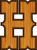 Western H letter