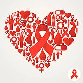 Aids Clip Art - Royalty Free - GoGraph