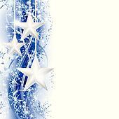 Blue silver star border