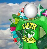Earth Defender Super Hero Environmentalist Activist