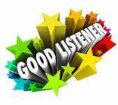 Good Listener 3d Words Sympathy Attentive Empathy