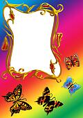 the frame with  butterfly