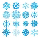 Snowflakes collection. Element for design. Vector  illustration
