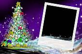 fir Christmas card and picture frame