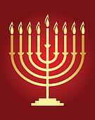 Vector Hanukkah wish card  Vector