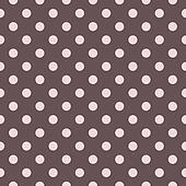 Brown pink polka dot vector pattern