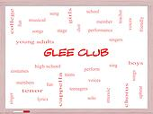 Glee Club Word Cloud Concept on a Whiteboard