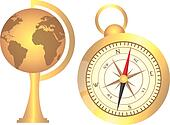 globe and compass