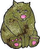 cartoon sad bear