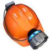 3d miner helmet with lamp and battery