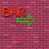 Brick Wall Indicates Traditional Pub And Alcohol