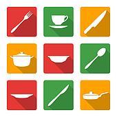 flat white dinnerwarwe icons