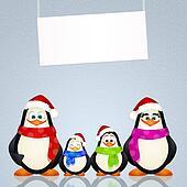 penguins at Christmas
