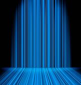 Abstract blue light sabres