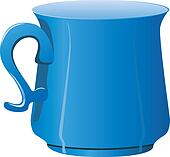 Blue cup. vector
