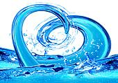 Abstract water heart