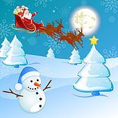 winter scene - christmas card