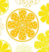 Lemon slices pattern or background - yellow & white