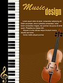 Poster with piano and violin