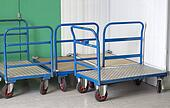 Removal trolleys at self storage