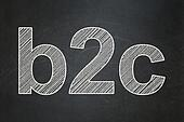 Business concept: B2c on chalkboard background