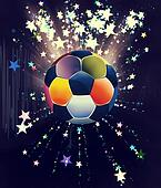 Stars Explosions and Soccer Ball