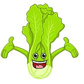 lettuce cartoon