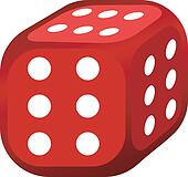 Vector illustration of abstract dice