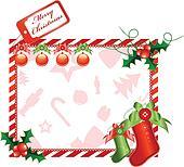 Christmas horizontal card