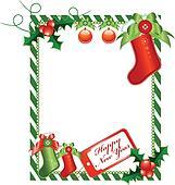 Christmas vertical card