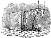 Movable clothes dryer vintage engraving