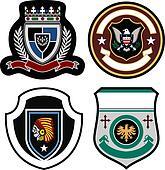 heraldic eagle emblem badge