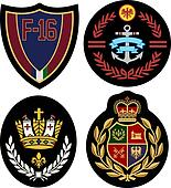 classic royal emblem badge