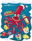 Santa Squid