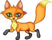 Running a little fox