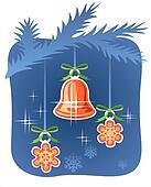 handbell and snowflakes