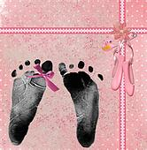 baby girl footprint