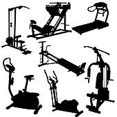 trainer silhouettes vector illustration