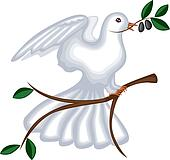 The dove with olive branch